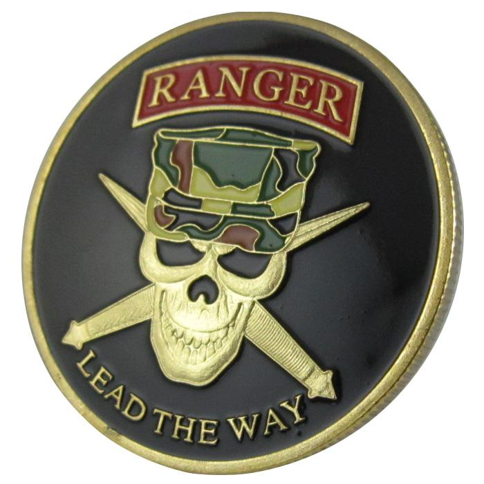 2018 Military Coin Us Army Ranger Lead The Way Gold Plated Challenge