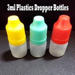 Wholesale Electronic Cigarette Juices - Empty Bottle LDPE 3ml Plastic Dropper Bottle E Juice Bottle With Safety Cap And Long Thin Dropper Bottles For Electronic Cigarette 1000 Pcs