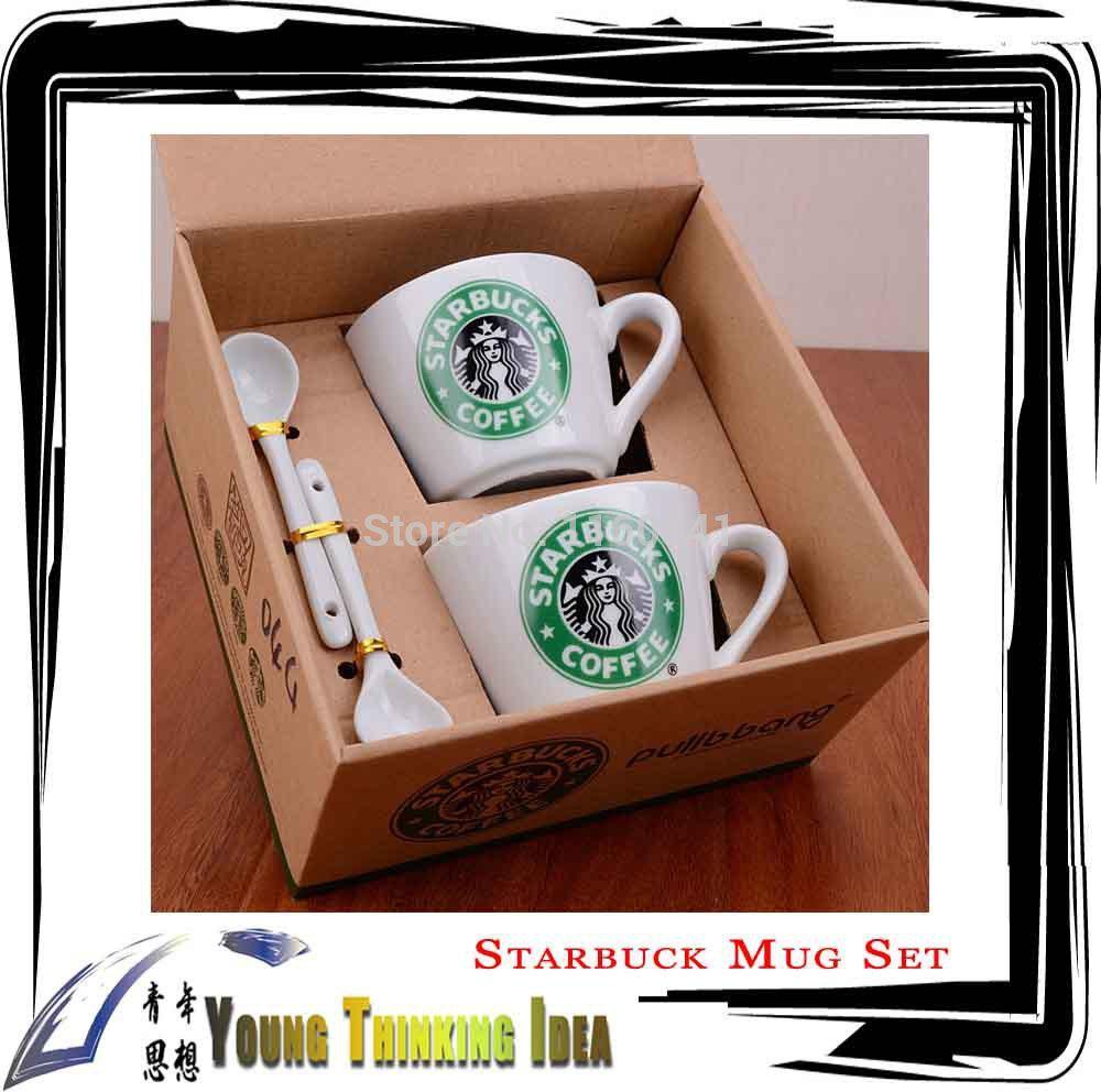 Wholesale Starbucks Coffee Cup Set With Spoon, Coffee Mug