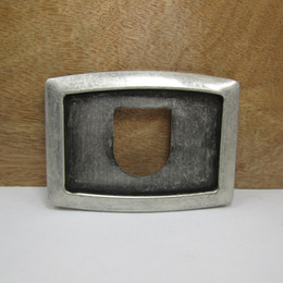 Discount smoothing card - BuckleHome fashion bank card frame belt buckle with antique silver finish FP-02956 with continous stock free shipping