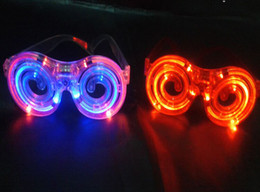 Discount halloween rave - LED Glowing glasses concert cheer Halloween props lollipop glasses toys Led Rave Toy Christmas gifts mixs 50pcs