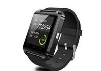 compagnon de montre intelligente u8 achat en gros de-Bluetooth Smartwatch U8 Smart Watch Téléphone Mate Wrist Touch Montres pour iPhone 4S 5 5S Samsung S4 S5 Note 2 3 HTC Android Téléphone Smartphone