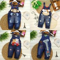 Wholesale Denim Pants For Kids Girls - Spring 2016 kids overall jeans clothes newborn baby bebe denim overalls jumpsuits for toddler infant boys girls bib pants