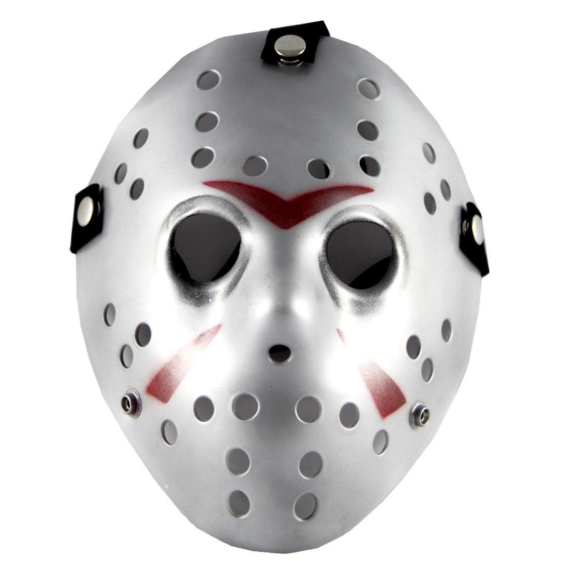 Friday The 13th Part3 Jason Hockey Mask Halloween Silver Pvc ...