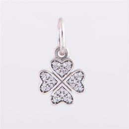 925 ALE Sterling argent pandora bracelets perles bijoux Lucky Clover pendentif cristal perle charme, Fit DIY breloque européenne Bracelet pour les femmes ? partir de fabricateur
