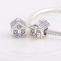 Wholesale Diy Sweets - 925 ALE Sterling Silver pandora bracelets beads jewelry Sweet Home bead Charm ,Fit DIY European Charm Bracelet for women