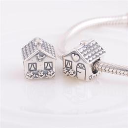 Wholesale Sweeter For Women - 925 ALE Sterling Silver pandora bracelets beads jewelry Sweet Home bead Charm ,Fit DIY European Charm Bracelet for women