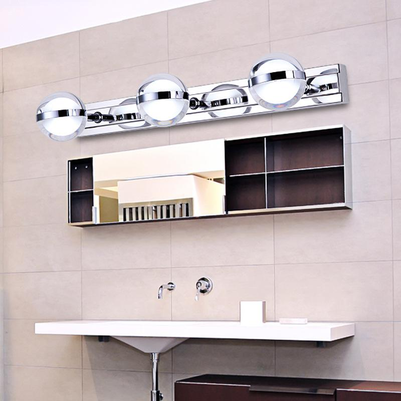 wall lamps ball led mirror lights acrylic stainless steel lamp modern minimalist bathroom mirror cabinet dressing table mirror painted la