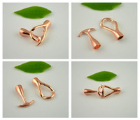 Wholesale Ends Buckle Cap - New Style! 50Set Rose Gold End Cap Anchor Hook Toggle Clasp Clousure Fastener Buckle Jewelry Finding