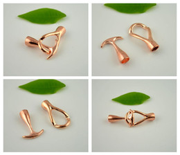 Wholesale Hook End Clasp - New Style! 50Set Rose Gold End Cap Anchor Hook Toggle Clasp Clousure Fastener Buckle Jewelry Finding