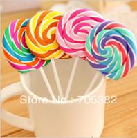ingrosso eraser di lollipop-Novità Gomme lecca-lecca, Gomma da cancellare divertente Candy, Regali da ufficio OfficeStudy, cartoleria carina (SS-1047)