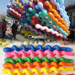Wholesale Best Balloon Decorations - Best Price New 50Pcs Pack Giant Rubber Helium Spiral Latex Balloons Wedding Birthday Party Decoration Ballons 8490 B003