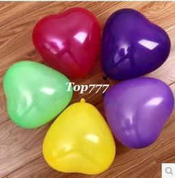 Wholesale SMALL HEART BALLOONS BABY TOY LATEX HELIUM BALLON MULTICOLOR BIRTHDAY WEDDINGS BALOON DECORATION BALL