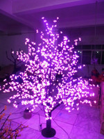 Outdoor LED Artificiale Cherry Blossom Tree Light Albero di natale Lampada 1.024pcs LED 6ft / 1.8 M Altezza 110VAC / 220VAC Rainproof Drop Shipping