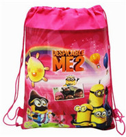 Wholesale Despicable Backpack School - New Frozen drawstring bags Anna Elsa Despicable Me monster university backpacks handbags children's school bags kids' shopping bags present