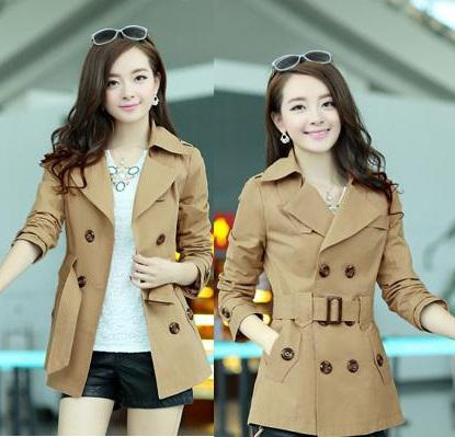 2017 New 2014 Spring Trench Coat Women'S Trench Belt Outwear,Thin ...