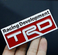 Wholesale Red Developments - Auto Tune Up Alloy Badge Emblems Stickers Decals For Racing Development TRD Red