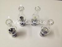 Wholesale huge globe - Pyrex Glass Globe Vaporizer wax herb vaporizer clearomizer lamp glass tank with huge vapor and high quality