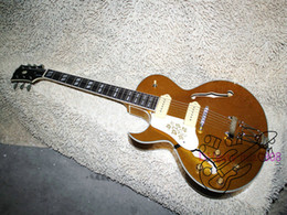 Wholesale Hollow Body Goldtop - Left Handed Goldtop 137 Classic Jazz Guitar Wholesale Guitars High Quality HOT