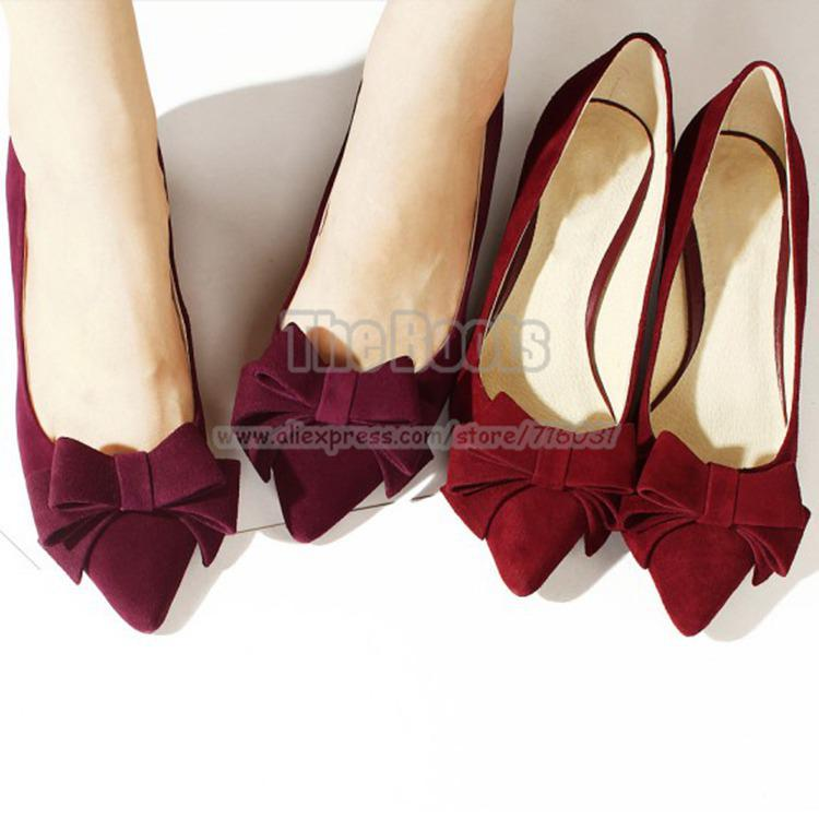 Womens Prom Pumps Wine Red Hot Pink Black Suede Bow Kitten Heel ...