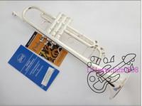 Wholesale Instrument Trumpet Silver - BachLT180S-37 silver Bb trumpet brass instruments China Free shipping