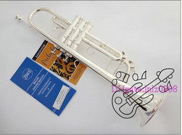 Wholesale Instrument Trumpet Silver - BachLT180S-37 silver Bb trumpet brass instruments China Free shipping
