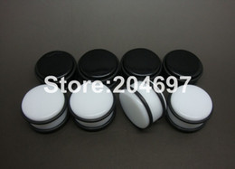 Wholesale Ear Rings Plugs - Mix 120pcs 10-20mm Acrylic Straight Ear Plugs Black White Flesh Tunnels Double O Rings Stretcher Expander Body Piercing Jewelry