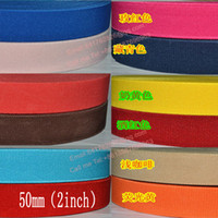 Wholesale Colorful Stretch Belts - The thickening 50mm Colorful Elastic Ribbon 5yards lot, color 11-20, 20 Colors Elastic Stretch Webbing , Belt Material wholesale and retail