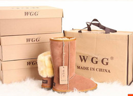 Wholesale White Tall Boots Wholesale - 10pairs Factory sale 2017 Classic WGG Brand Women tall short Australia Genuine Leather Boots Fashion Women's Snow Boots US5--US13
