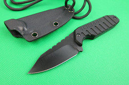 Wholesale Fixed Blade Canada - SCHRADE SCHF16 F16 Fixed Blade Neck knife 5CR13MOV 56HRC Blade G10 Handle Hunting camping straight knife knives with Kydex Sheath