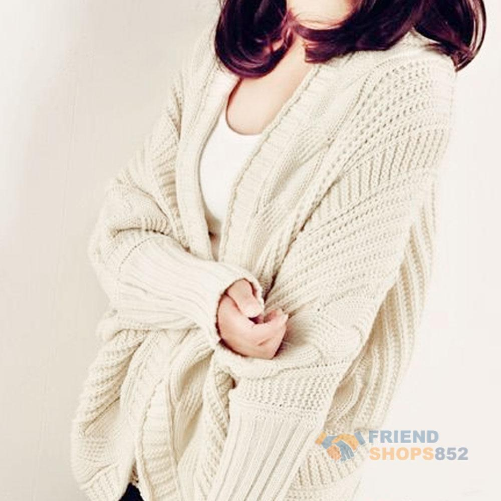 F9s cable knit open front batwing sleeve cardigan wrap cape loose 28 bankloansurffo Choice Image