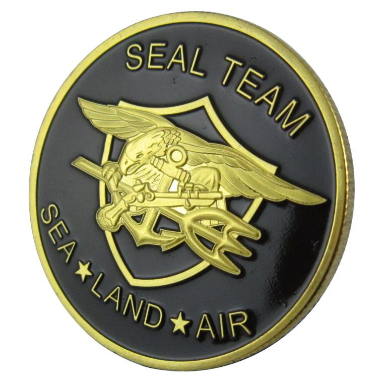Online Cheap Military Coin United States Navy Seal Team Sea Land