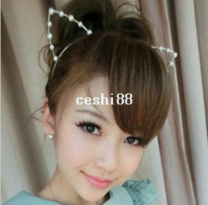 Wholesale Min order is mix order Fashion Pearls fashion Cat Ear Headbands Hair Accessories