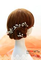 Wholesale Swarovski Wholesale Hair - Little Jewelry 6PCS Wedding Tiaras & Hair Accessories Swarovski Crystal Pearl Hair Pins Cheap Head Piece