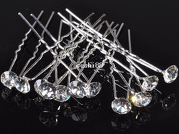 Wholesale Hair Pins Crystal Clear - Wholesale Lots 40pcs Fashion Wedding Bridal Hair Pin Clear Crystal Hairpin Clips For Women Jewelry Gift
