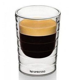 Wholesale Wholesale Double Blown Glass - Wholesale-hand-blown,double-walled glass Nespresso Citiz Lungo Coffee Cup cups(150ml),set of 2,teacup,Thermo Glass