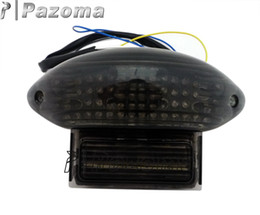 Wholesale Hayabusa Red - 1999-2007 GSX1300R Hayabusa Katana 600 750 Smoke LED Tail Light with Signals 2003-2006 Suzuki Katana GSX 600- PAZOMA