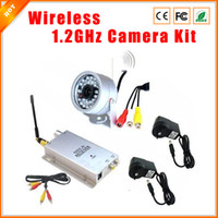 Wholesale Kit Wireless Outdoor Camera Receiver - Wholesale-Security System Kit Waterproof Outdoor 30LED Wireless Video Audio CCTV Color IR Home Security Camera +1.2G Wireless Receiver