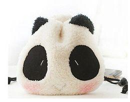 Wholesale Cartoon Camera Bag - Cute Panda shape Soft fabrics Camera Case Bag For Fujifilm Polaroid Instax Mini8 90 50 7S 25s Cartoon White