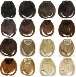Vente en gros 20 couleurs disponibles Bangs Clip sur cheveux synthétiques Bang B3 avant soignée Résistance à la chaleur frange cheveux frinde 30g, 1pc