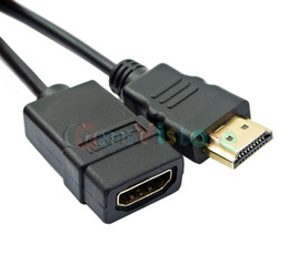 Wholesale Extension Hdmi Male Female - 1.5FT 0.5m HDMI Cable Male to Female Extension Adapter Connector 1080P For HDTV laptop PC 0.5m Wholesale - free shipping