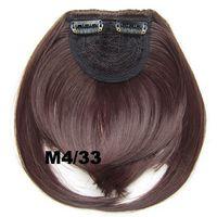 Wholesale Ship Hair Clip Bangs - free shipping M4 33# Bangs Clip in on hair bang B3 neat Heat Resistance synthetic front hair bang fringe frinde 30g, 1pc