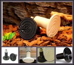 Wholesale Infrared Ceramic Heat - 20Pcs lot 250W Reptile pet appliances flat-type Infrared Ceramic heat lamp 110V 220V (Reptile pet amphibian poultry) P405