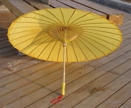 $enCountryForm.capitalKeyWord Canada - Yellow Plain Fabric Bamboo Parasol Umbrella Great For Wedding Favor