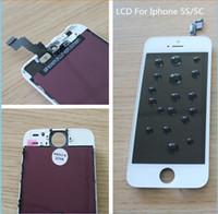 digitalizador full frame iphone 5c venda por atacado-Venda quente de alta qualidade substituição lcd para iphone 5g 5s / 5c oem display lcd touch screen digitador com quadro de montagem completa lcd