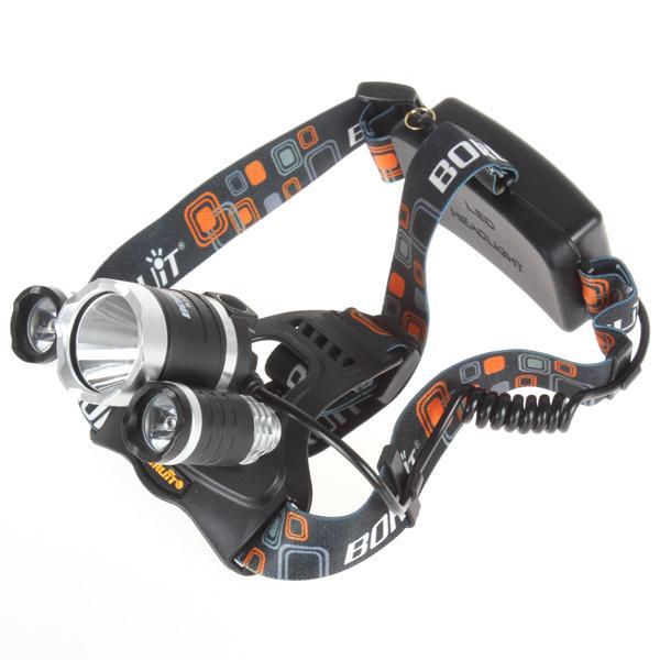 6000Lm CREE XML T6 + 2R5 LED Lampe frontale Lampe frontale Lampe torche 4 modes + 2x18650 batterie + EU / US / AU / UK Chargeur voiture pour lumières de pêche