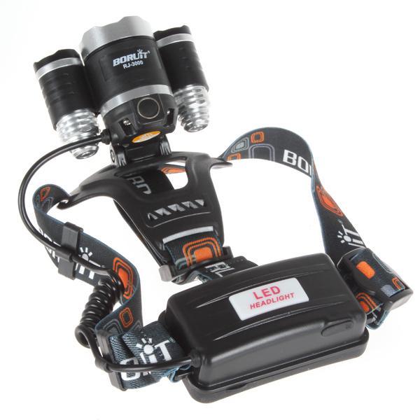 3T6 كشافات 6000 شمعة 3 × كري XM-L T6 رئيس مصباح عالية الطاقة الصمام كشافات رئيس الشعلة مصباح المصباح رئيس + شاحن + بطارية + شاحن سيارة