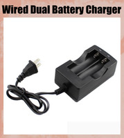Wholesale Battery Charger For Sanyo - 18650 Li-ion battery charger 18650 Wired Dual Battery charger for Trustfire Ultrafire Sanyo  18650 Battery charger( EU or US plug) FJ014