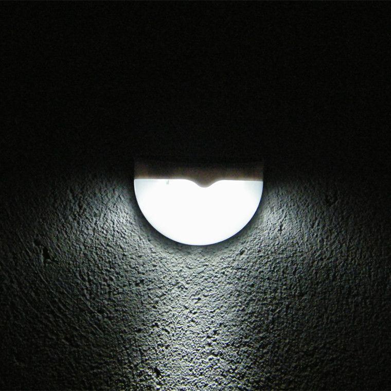 NOUVELLE Arrivée 6 LED Capteur Solaire Alimenté Lumière Extérieure Lampe LED Mur Lumière Jardin Lampe ABS + PC Couverture Couleur Paquet Accueil Escalier Étanche Ampoule