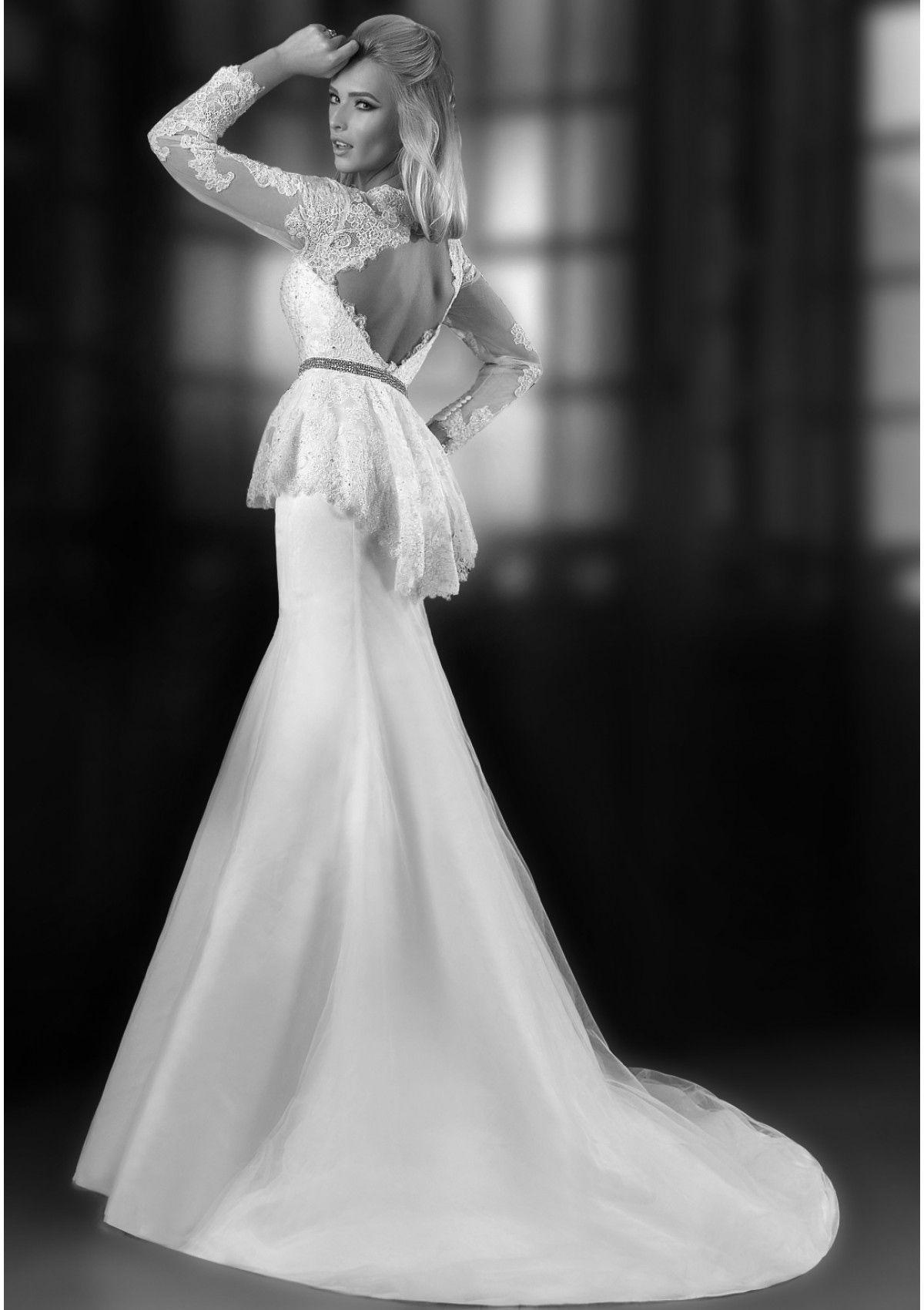 Dress Peplum Lace Wedding